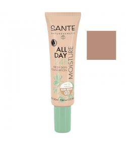 Fond de teint crème hydratant 24h BIO N°03 Sun Beige - 30ml - Sante