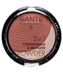 Poudre contouring & bronzante 2 en 1 BIO N°01 Light-Medium - 9g - Sante