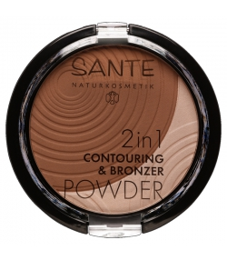 2in1 BIO-Konturpuder & Bronzepuder N°02 Medium-Dark - 9g - Sante