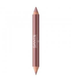 Crayon duo contour des lèvres & gloss BIO N°01 Nude Look - 4g - Sante
