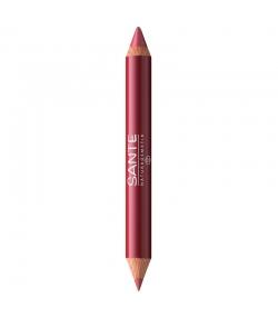 Crayon duo contour des lèvres & gloss BIO N°02 Natural Look - 4g - Sante