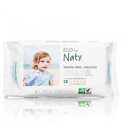 Lingettes douces pour bébé écologiques sans parfum – 56 lingettes – Naty
