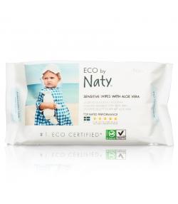 Lingettes pour bébé écologiques enrichies à l'aloe vera sans parfum – 56 lingettes – Naty