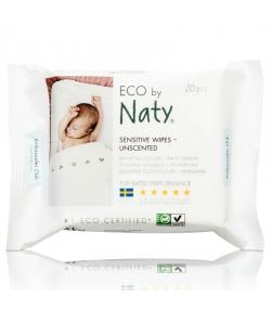 Lingettes pour bébé écologiques sans parfum – 20 lingettes – Naty