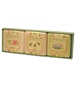 Coffret cadeau trio de savonnettes - 3x100g - Marius Fabre Jardin