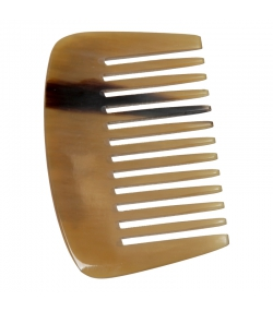 Peigne africain en corne denture large - 1 pièce - Martin Groetsch