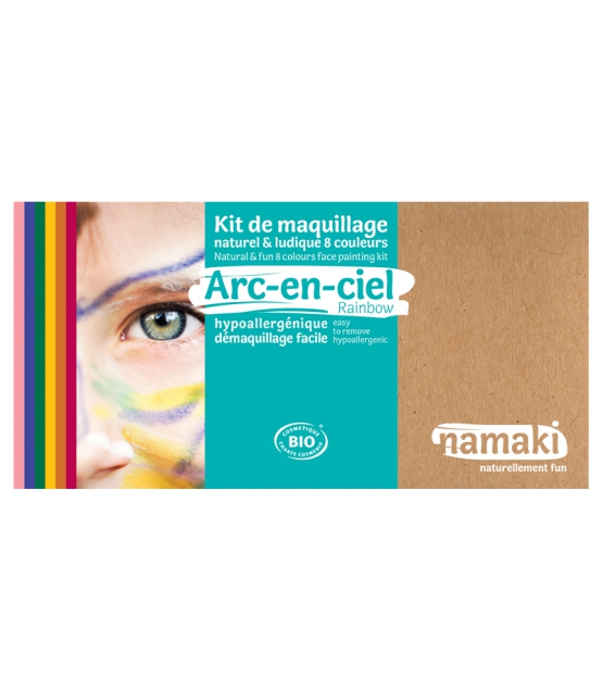 Kit de maquillage naturel & ludique 8 couleurs Arc-en-ciel - Namaki