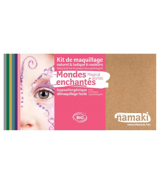 Schmink-Set Natürlich & Spielerisch 8 Farben Verzauberte Welten - Namaki