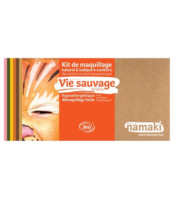 Kit de maquillage naturel & ludique 8 couleurs Vie sauvage - Namaki