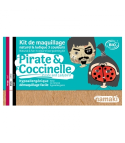 Kit de maquillage naturel & ludique 3 couleurs Pirate & Coccinelle - Namaki