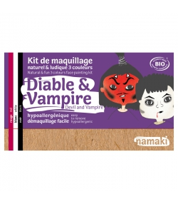 Kit de maquillage naturel & ludique 3 couleurs Diable & Vampire - Namaki