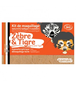 Kit de maquillage naturel & ludique 3 couleurs Zèbre & Tigre - Namaki