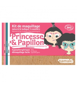 Kit de maquillage naturel & ludique 3 couleurs Princesse & Papillon - Namaki