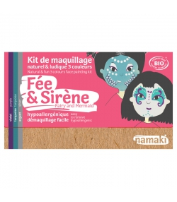 Kit de maquillage naturel & ludique 3 couleurs Fée & Sirène - Namaki
