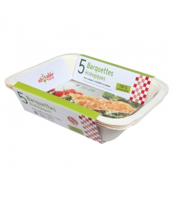 Barquette compostable grand format - 5 pièces - ah table !