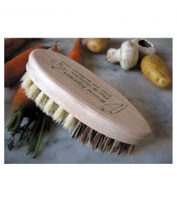 Brosse légumes en hêtre & fibre d'agave - 1 pièce - ah table !