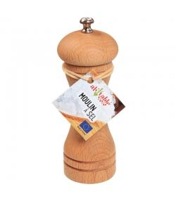 Moulin à sel en bois & céramique - 1 pièce - ah table !