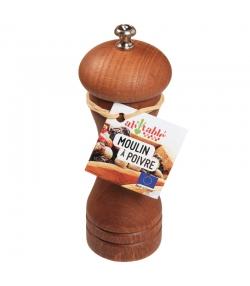 Kleine Pfeffermühle aus Holz & Stahl - 1 Stück - ah table !