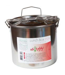 Lunch box ronde en inox - 1 pièce - ah table !