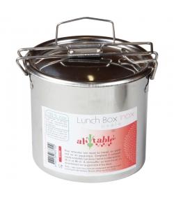 Ovale Lunch Box aus Edelstahl - 1 Stück - ah table !