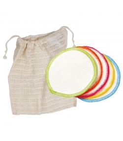 Pochette de lavage avec 10 disques à démaquiller en coton BIO - 10 pièces - Anaé