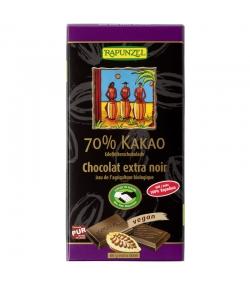 Chocolat extra noir 70% de cacao BIO - 80g - Rapunzel