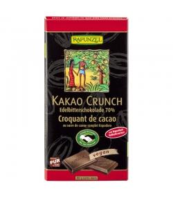 Chocolat extra noir au croquant de cacao BIO - 80g - Rapunzel