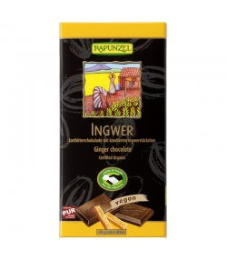 Chocolat noir au gingembre BIO - 80g - Rapunzel