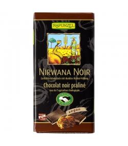 Chocolat noir fourré au praliné Nirwana BIO - 100g - Rapunzel