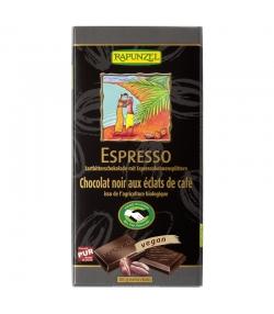 Chocolat noir aux éclats de café Espresso BIO - 80g - Rapunzel