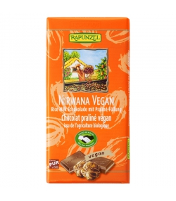 Chocolat vegan fourré au praliné Nirwana BIO - 100g - Rapunzel
