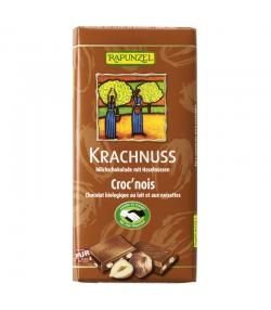 Chocolat au lait & aux noisettes croc'nois BIO - 100g - Rapunzel