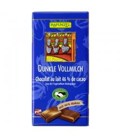 Chocolat au lait 46% de cacao BIO - 100g - Rapunzel