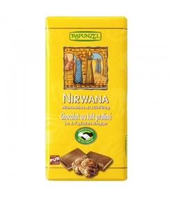 Chocolat au lait fourré au praliné Nirwana BIO - 100g - Rapunzel