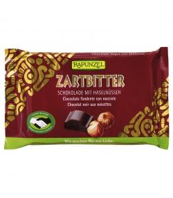 BIO-Zartbitterschokolade mit Haselnüssen - 100g - Rapunzel