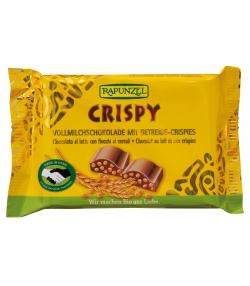 Chocolat au lait & aux crispies BIO - 100g - Rapunzel