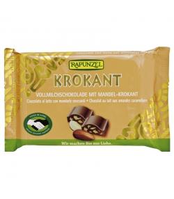 Chocolat au lait aux amandes croustillantes BIO - 100g - Rapunzel