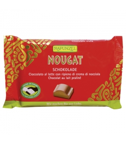 Chocolat au lait fourré praliné BIO - 100g - Rapunzel