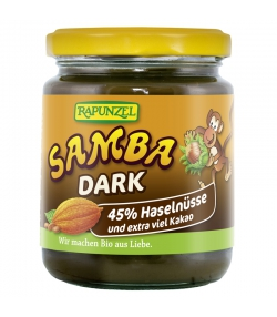 Pâte à tartiner aux noisettes & au cacao Samba Dark BIO - 250g - Rapunzel