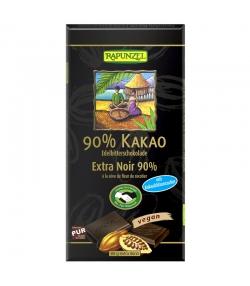 Chocolat extra noir 90% de cacao à la sève de fleur de cocotier BIO - 80g - Rapunzel