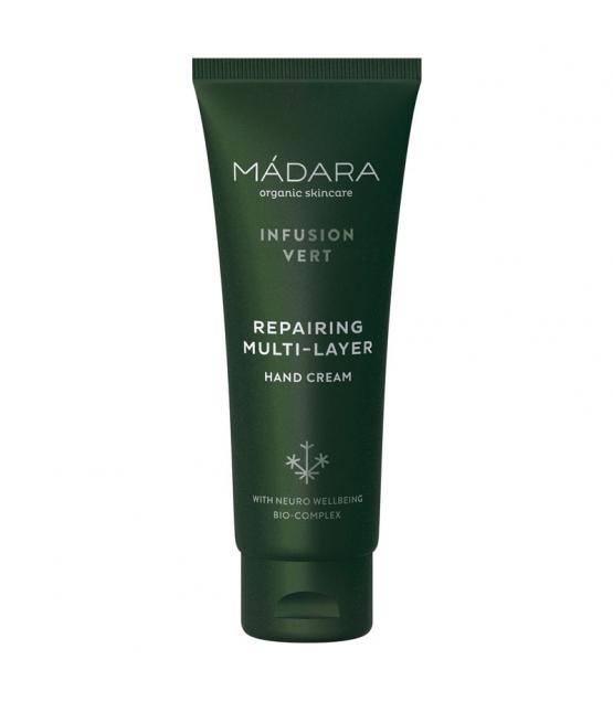 Crème pour les mains réparatrice BIO prêle, thym & mélisse - 75ml - Mádara Infusion Vert