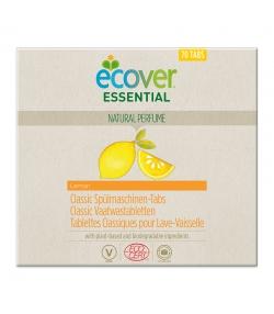 Ökologische Classic Spülmaschinen-Tabs Zitrone - 70 Waschgänge - 1,4kg - Ecover essential