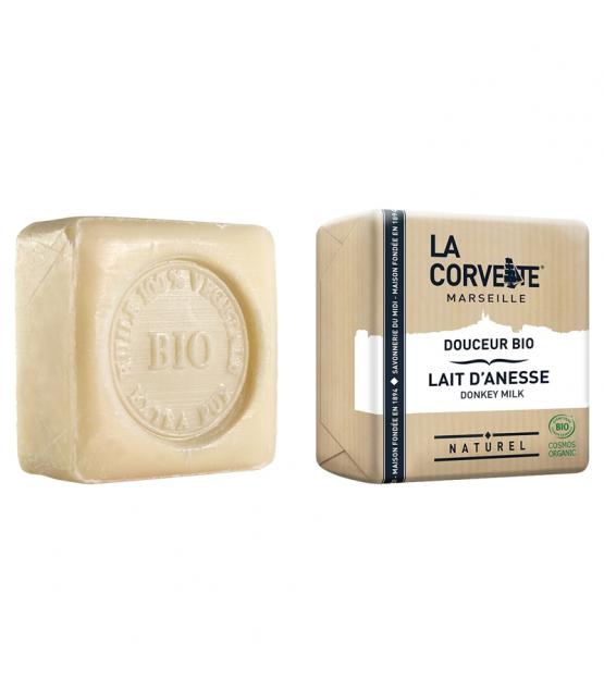 Savon douceur BIO lait d'ânesse - 100g - La Corvette
