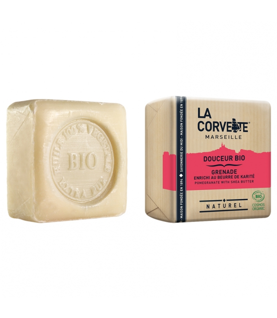 Savon douceur BIO grenade & beurre de karité - 100g - La Corvette