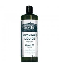 Savon noir liquide à l'huile de lin & amande - 1l - La Corvette