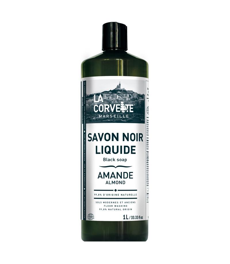 savon noir liquide l 39 huile de lin amande 1l la corvette. Black Bedroom Furniture Sets. Home Design Ideas