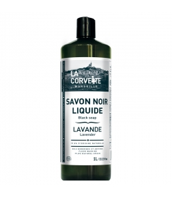 Schwarze Seife mit Leinöl & Lavendel- 1l - La Corvette