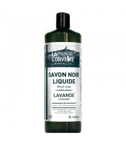 Savon noir liquide à l'huile de lin & lavande - 1l - La Corvette