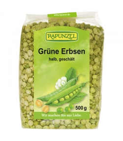 Grüne BIO-Erbsen - 500g - Rapunzel