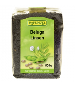 Lentilles noires beluga BIO - 500g - Rapunzel